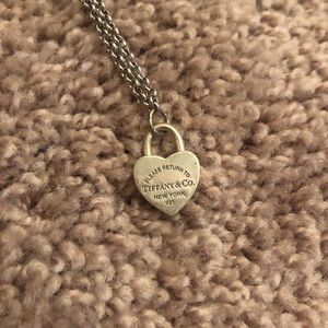 Authentic Tiffany&Co. Heart Charm Necklace